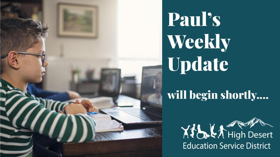 Paul's Update — Week of May 25
