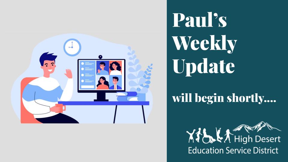 Paul's Update — Week of June 1